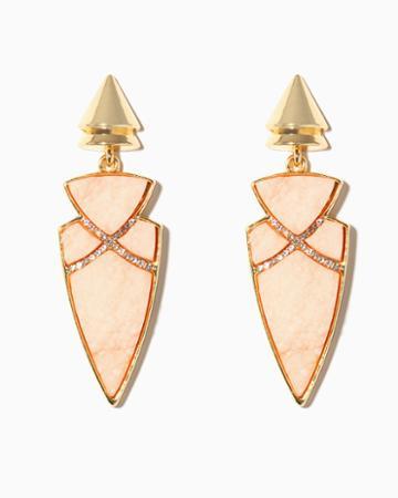 Charming Charlie Arrow Druzy Drop Earrings
