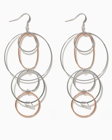 Charming Charlie Tori Ring Drop Earrings