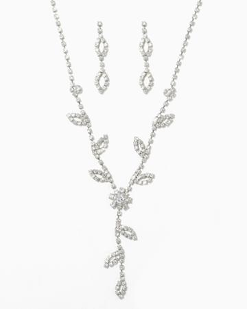 Charming Charlie Wildflower Pav Necklace Set