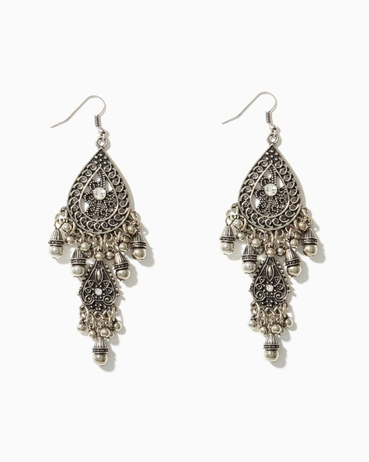 Charming Charlie Lavish Filigree Drop Earrings