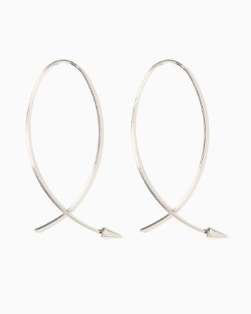 Charming Charlie Arrow Hoop Threader Earrings