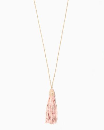 Charming Charlie Emerie Bead Tassel Necklace