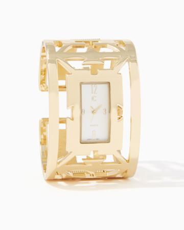 Charming Charlie Aztec Bracelet Cuff Watch