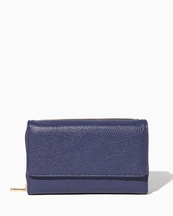 Charming Charlie Foldover Zip Around Wallet