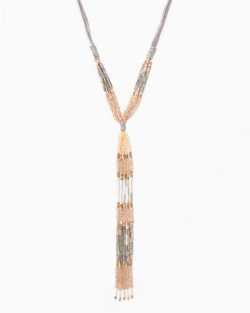 Charming Charlie Ombre Linear Bead Necklace