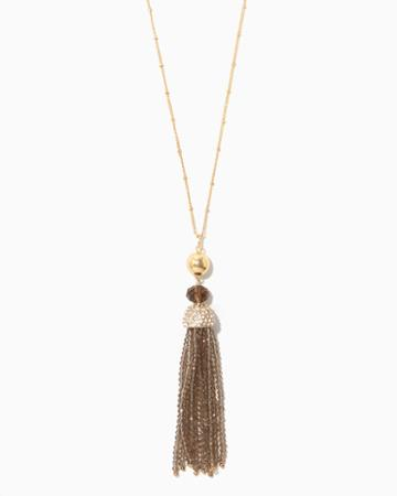 Charming Charlie Kenia Bead Tassel Necklace