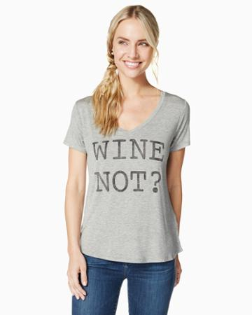 Charming Charlie Wine Not Graphic Tee