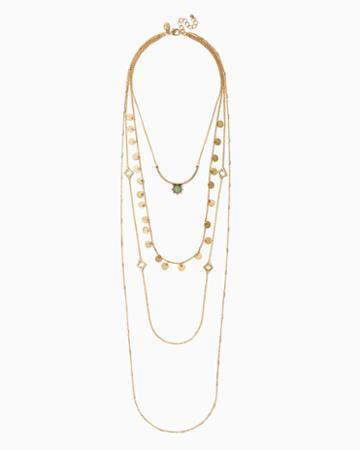 Charming Charlie Lan Layered Pendant Necklace
