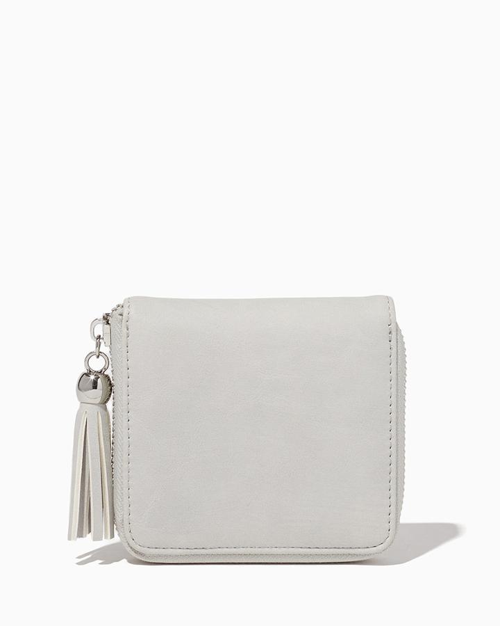 Charming Charlie Square Tassel Wallet