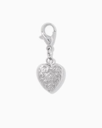 Charming Charlie Filigree Heart Charm