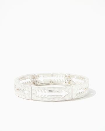 Charming Charlie Arrow Hammered Stretch Bracelet