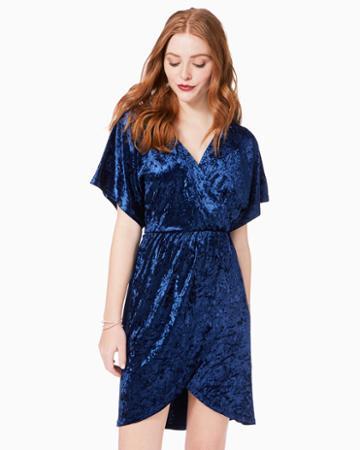 Charming Charlie Hailee Velvet Wrap Dress