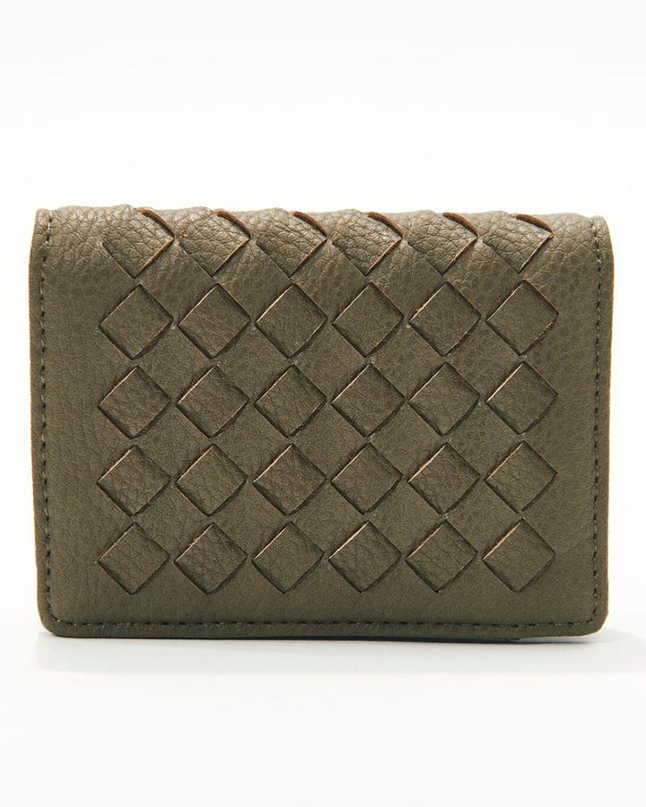 Charming Charlie Woven Card Wallet