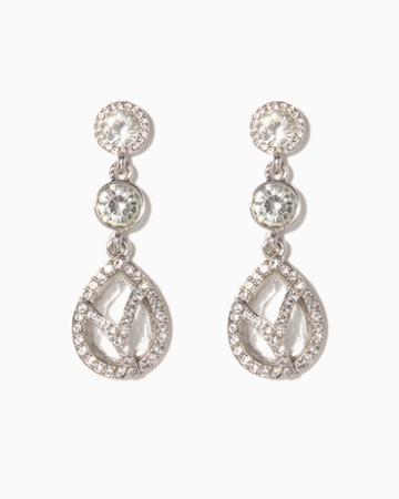 Charming Charlie Crystal Cage Drop Earrings