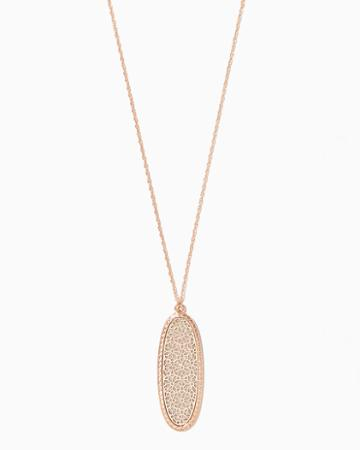 Charming Charlie Daisy Stardust Filigree Pendant Necklace