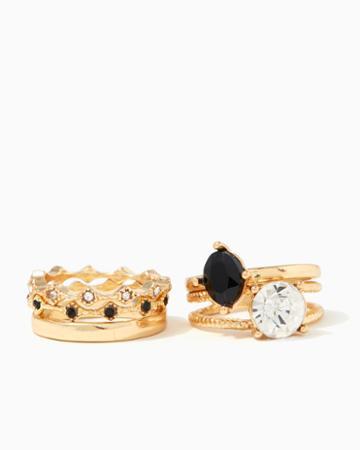 Charming Charlie Axel Stone Ring Set