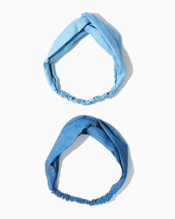 Charming Charlie Lexi Chambray Hair Wrap Set