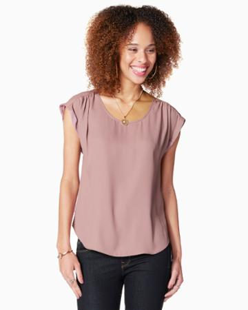 Charming Charlie Minnie Pleated Shoulder Top