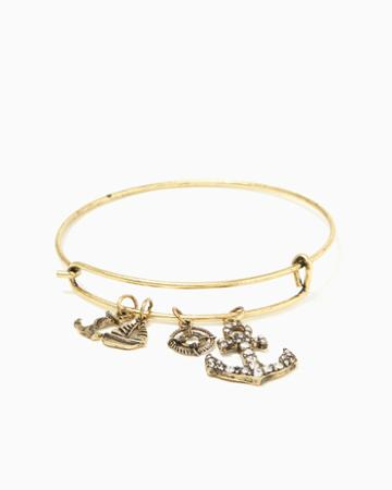 Charming Charlie Anchor Charm Bracelet