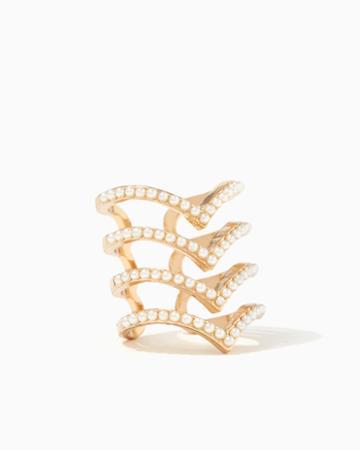 Charming Charlie Chevron Pearl Ring