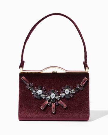 Charming Charlie Be Jeweled Velvet Clutch