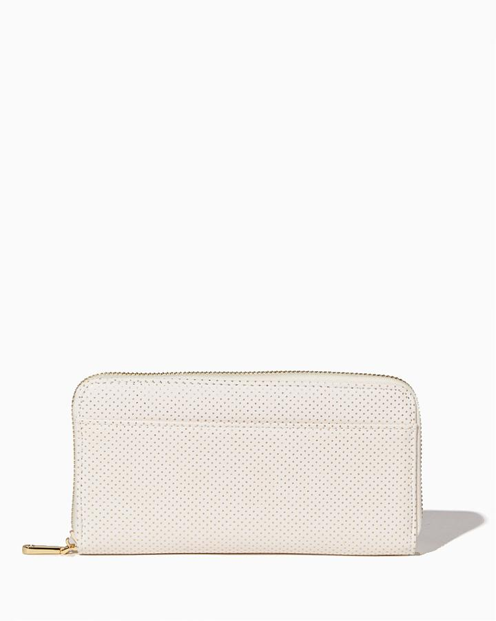 Charming Charlie Chic Dots Zip Around Wallet