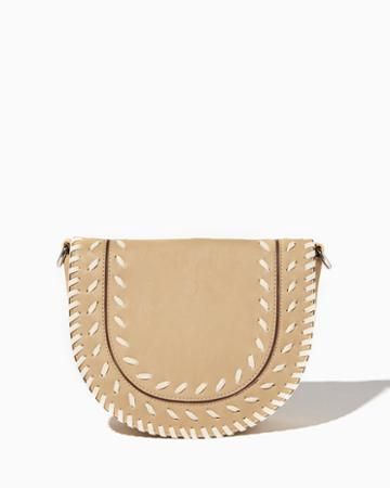 Charming Charlie Whipstitched Saddle Bag
