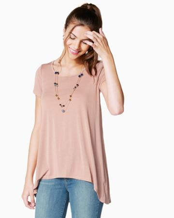 Charming Charlie Binni Split Hem Tunic Top