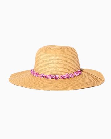 Charming Charlie Rosette Floppy Hat