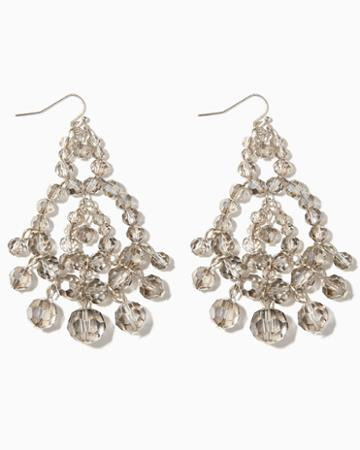 Charming Charlie Crystal Bauble Chandelier Earrings
