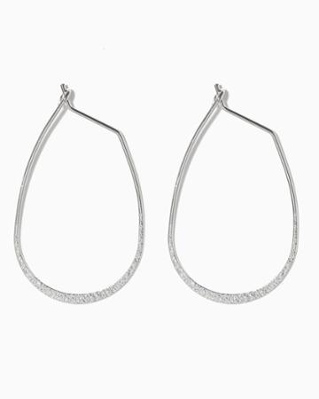 Charming Charlie Oval Stardust Hoops