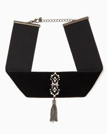 Charming Charlie Enchanting Velvet Choker Necklace