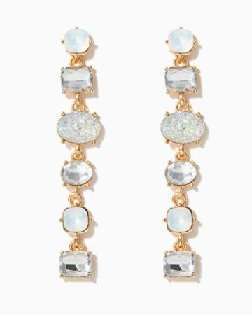 Charming Charlie Haya Iridescent Linear Earrings