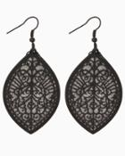 Charming Charlie Stardust Filigree Drop Earrings