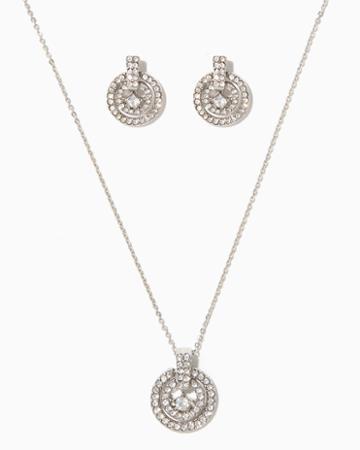 Charming Charlie Milena Pav Necklace Set