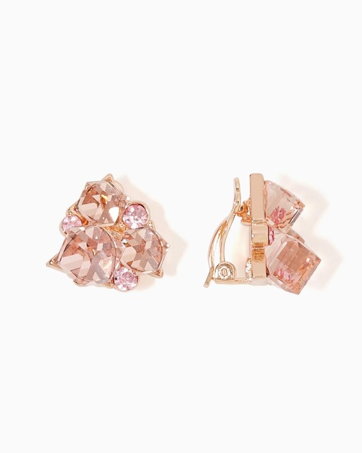 Charming Charlie Cube Cluster Clip-on Earrings