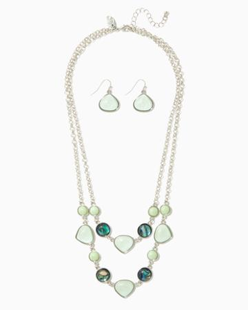 Charming Charlie Shining Layers Necklace Set