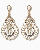 Charming Charlie Fantasy Filigree Teardrop Earrings