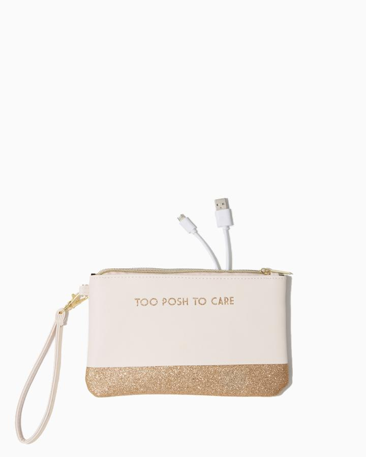 Charming Charlie Too Posh Glittery Charger Wristlet