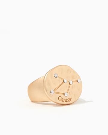 Charming Charlie Cancer Pav Constellation Ring