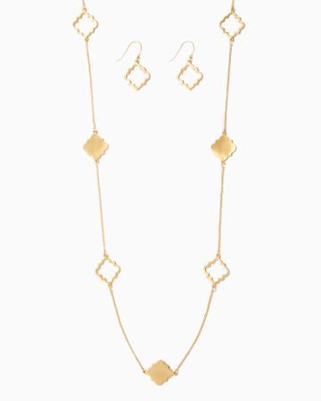 Charming Charlie Venetian Station Necklace Set