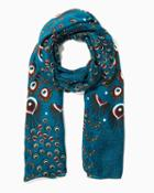 Charming Charlie Colorful Peacock Scarf
