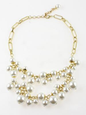 Choies Layered Pearl Necklace