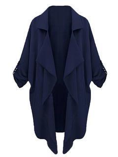 Choies Dark Blue Lapel Coat