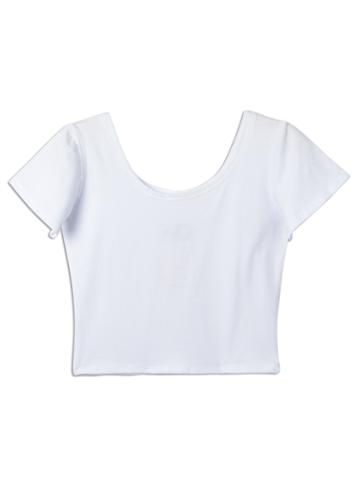 White Tight Crop Top T-shirt