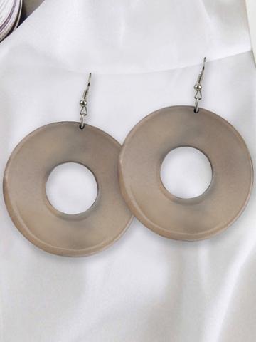 Choies Beige Hoop Earrings
