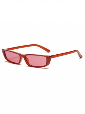 Choies Red Rectangle Sunglasses