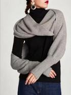 Choies Gray Knitted Cape Scarf