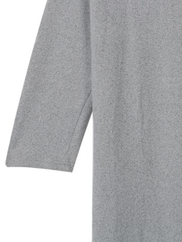 Choies Gray T-shirt With Leaher Shoulders