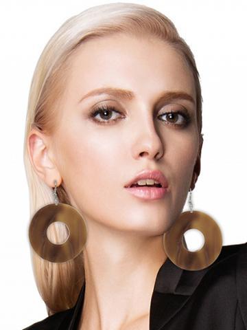 Choies Brown Hoop Earrings